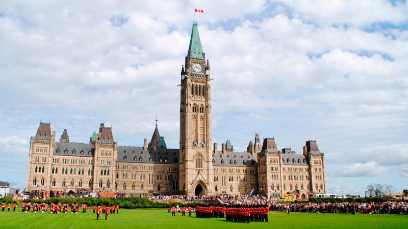 Edificio del Parlamento de Canadá en Ottawa